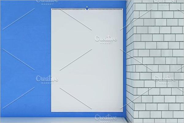 Blank Calendar Abstract Template