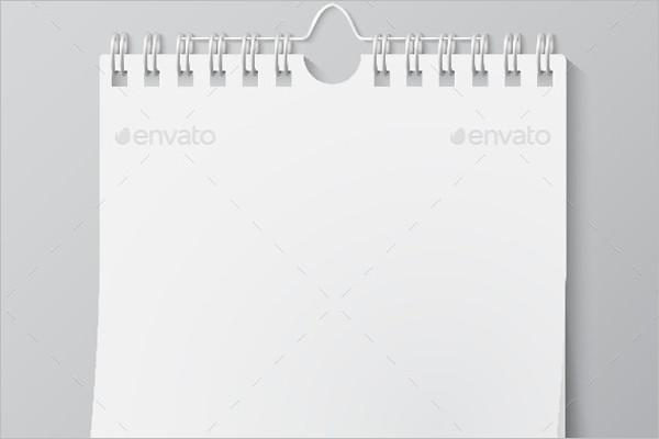 Blank Wall Calendar Template