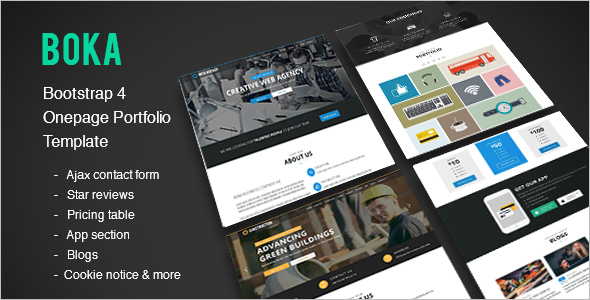 Bootstrap One Page Portfolio Template