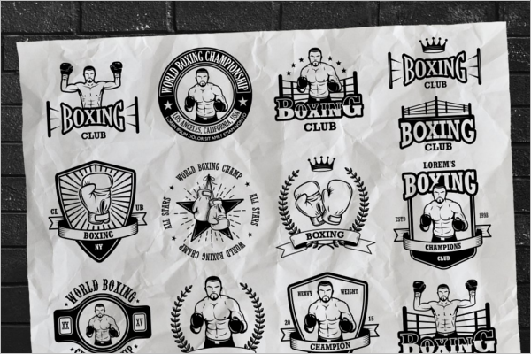 Boxing Badge Refeere Template