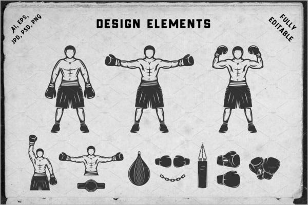 Boxing Badge Template Design