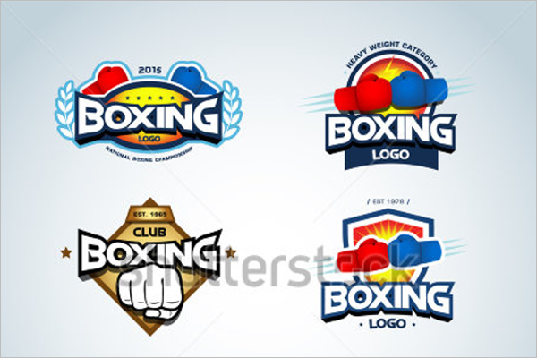 Boxing Business Badges Template