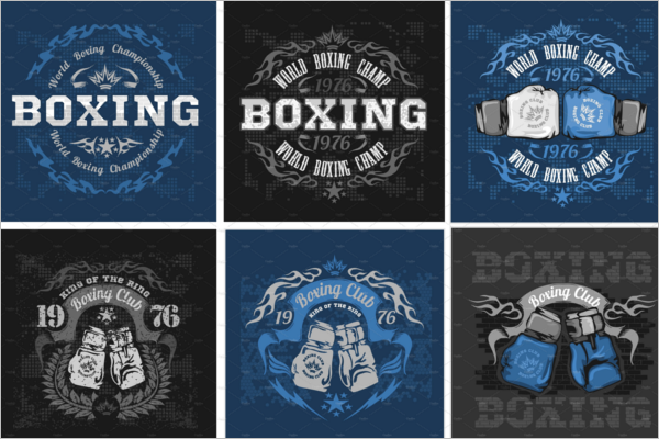 Boxing Coaching Badge Template