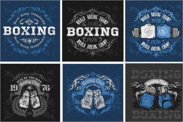 Boxing Coaching Badge Template