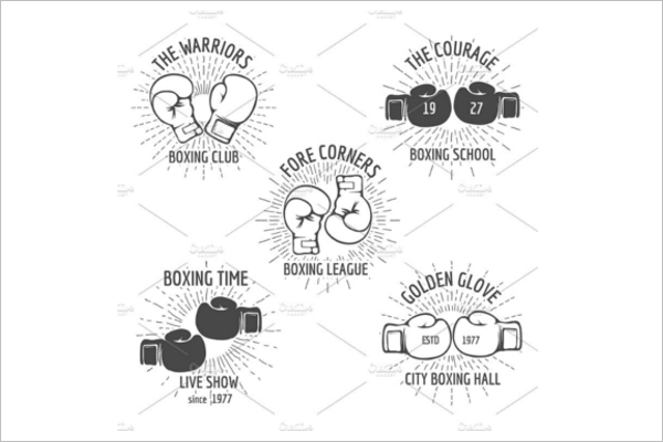 Boxing Glove Badge Template
