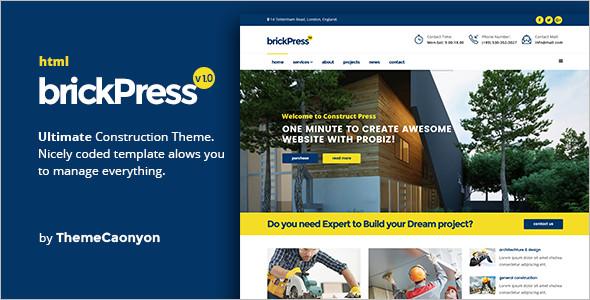 BrickPress Building HTML5 Template