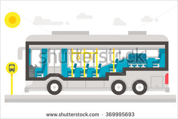 Bus Interior Illustration Vector