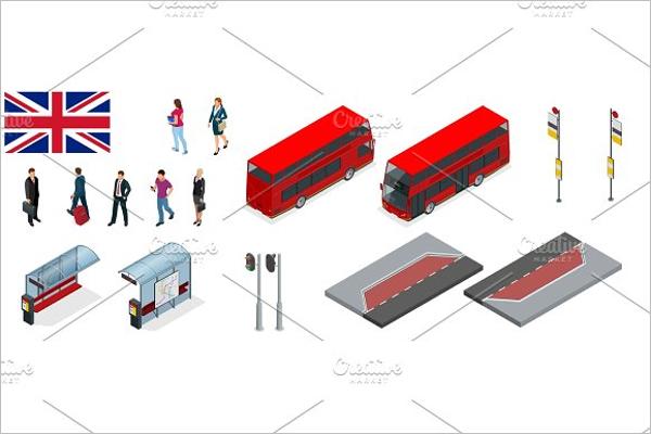 Bus Stop Vector Illustration