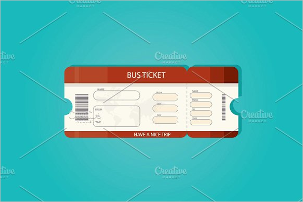 Bus Ticket Illustration Vector