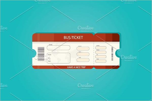 Bus Ticket Illustration Vector