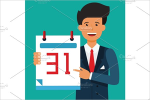 Business Calendar Vector Template