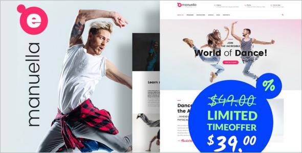 Business Dance School WordPress Theme