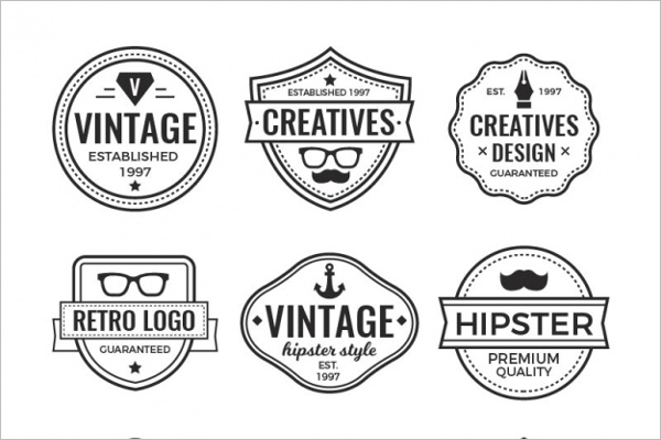 Business Hipster Vintage Badge Template