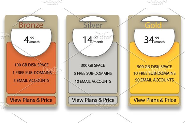 Business Pricing Table Template