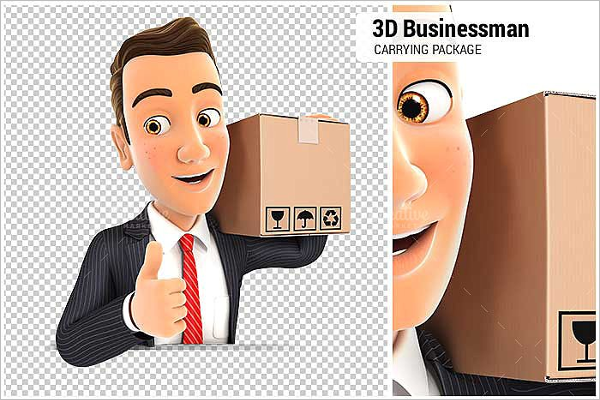 Businessman Cartoon Vector Design