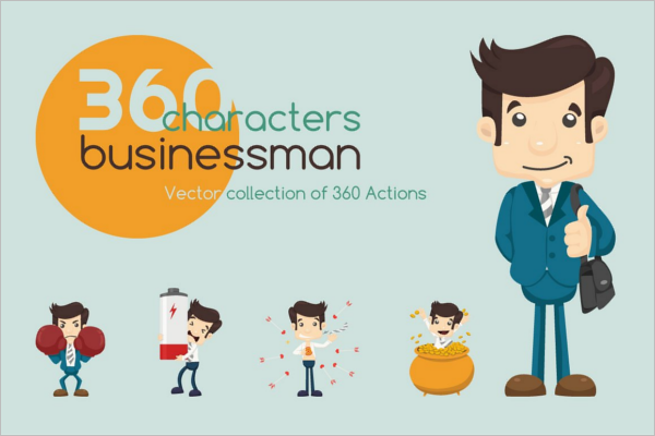 Businessman Vector Character Design