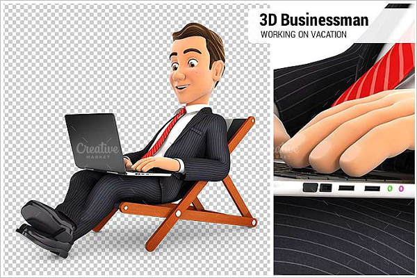 Businessman Working Character Design