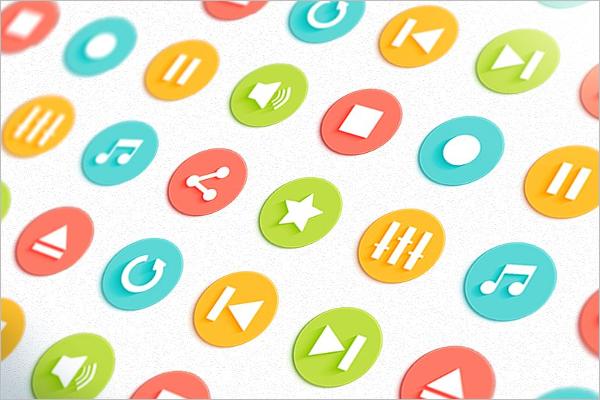 Button Media Player Design