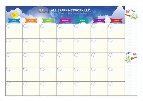 calendar templates for excel