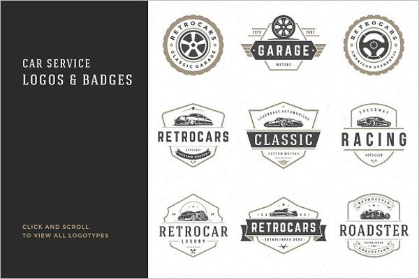 Car Garage Badges & Logos