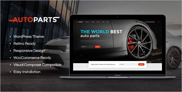 Car Parts Store & Auto Services Template