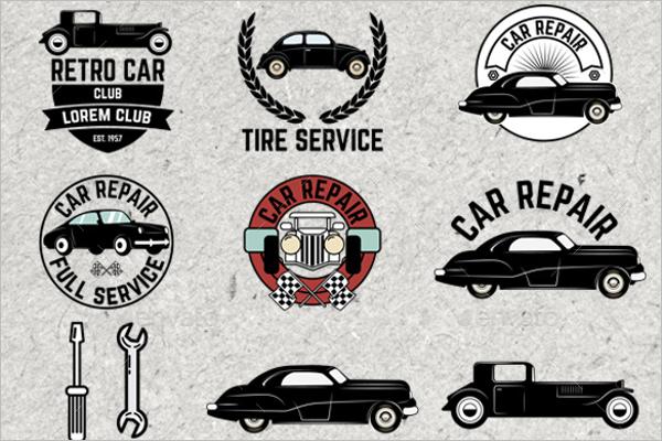 Car Service Badg Design