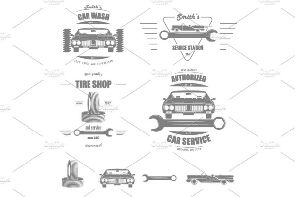 Car Services Badge Template