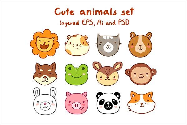 Cartoon Animal Set Design