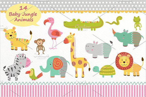 Cartoon Animals Collection Template