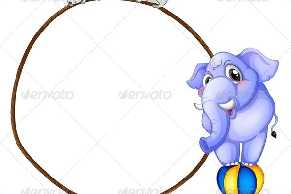 Cartoon Baby Elephant Template
