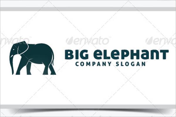 Cartoon Big Elephant Template
