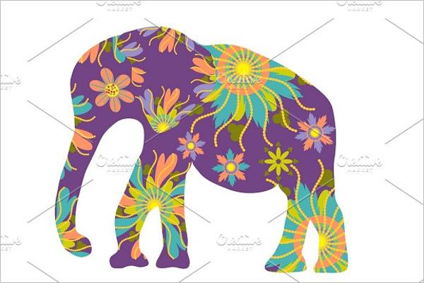 Cartoon Elephant EPS Template