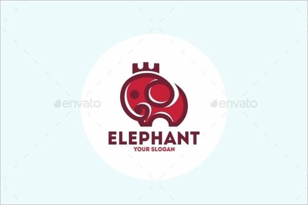 Cartoon Elephant Logo Design