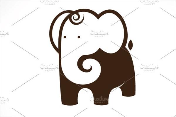 Cartoon Elephant Symbol Design