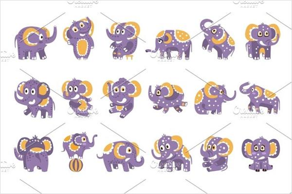 Cartoon Elephant Templates