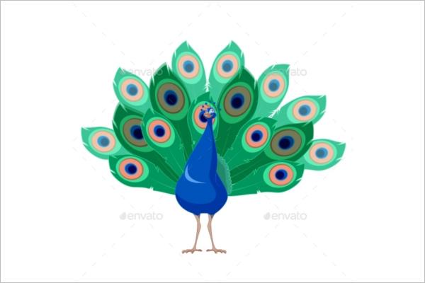 Cartoon Peacock Pattern