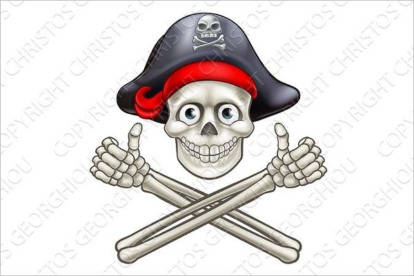 Cartoon Skull Vector Design