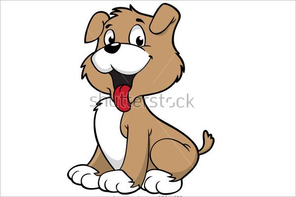 Charming Dog Cartoon Template