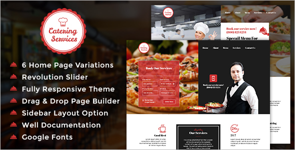 Chef Catering WordPress Theme