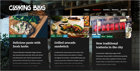 50 best recipe wordpress themes free website templates chef food recipe wordpress theme download live preview forumfinder Choice Image