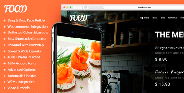 Chef WordPress Website Theme