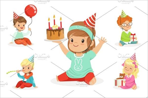 Children Birthday Celebration Template
