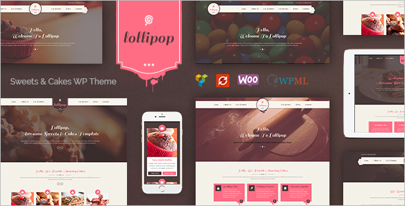 Chocolate Cake WordPress Theme