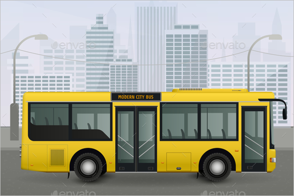 City Bus Illustration Vector