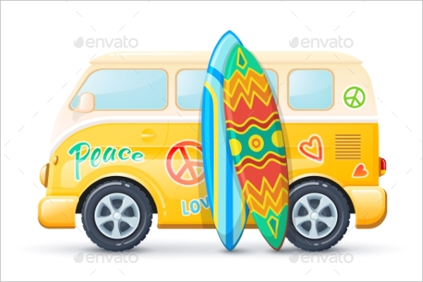 Classic Bus Vector Illustration