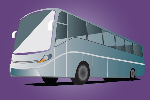 Clean Bus Illustration Vector