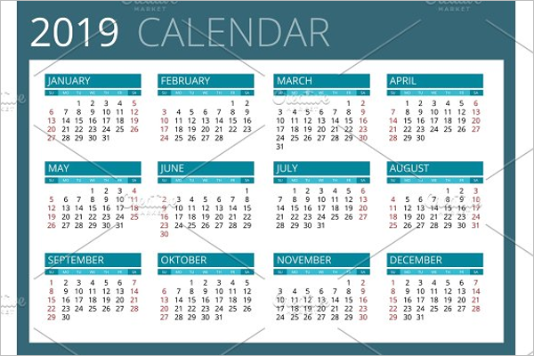 30 business calendar templates free premium clean business calendar template wajeb Images
