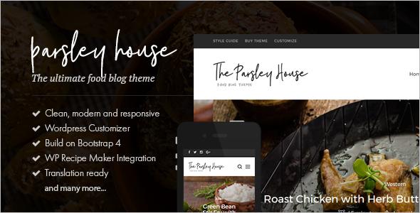 Clean Food Recipe WordPress Theme