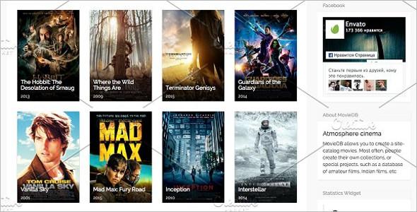 Clean Movie WordPress Theme