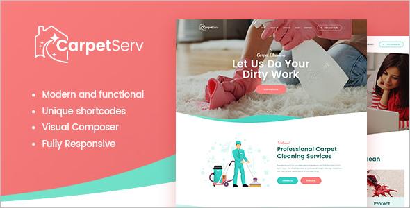 Cleaning Company Service WordPress Theme